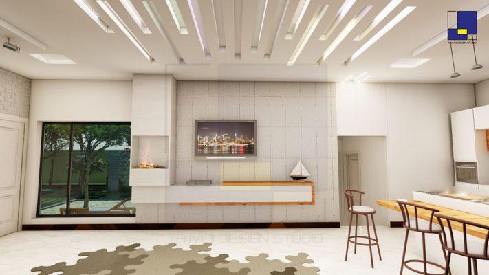 طراحی داخلی مدرن ویلا